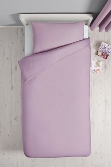 Antibacterial Plain Dye Duvet Cover And Pillowcase Set