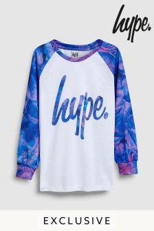 Hype. Langärmeliges Shirt, weiß/violett