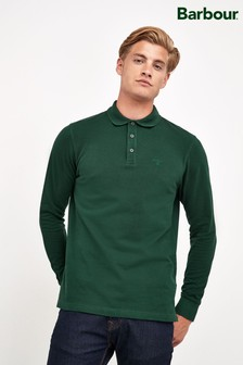 Barbour® Green Lydford Long Sleeve Polo