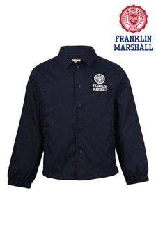 Franklin & Marshall Blue Coach Jacket
