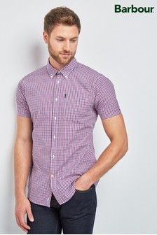 Barbour® Red Gingham Check Short Sleeve Shirt