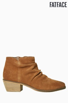 FatFace Brown Rhodes Rouche Ankle Boot