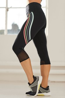 Stripe Capri Leggings
