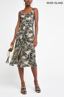 River Island Green Bright Print Dress