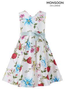 Monsoon White Ladybird Print Dress