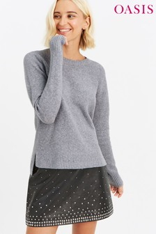 Oasis Grey Alexa Crew Neck Jumper