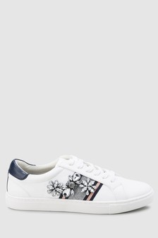 Jewelled Webbing Lace-Up Trainers