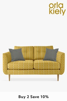 Orla Kiely Linden Small Sofa With Oak Feet