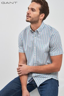 GANT Tech Prep Seersucker Check Regular Shirt