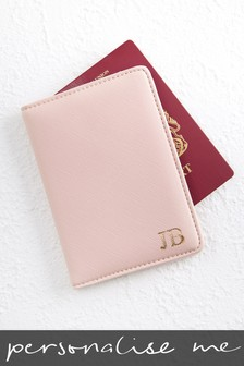 Personalised Pink Passport Holder