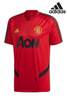 adidas Red Manchester United Training Jersey