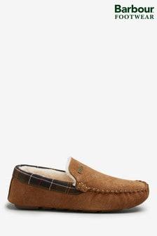 Barbour® Camel Suede Monty Slipper