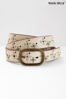 White Stuff White Annie Floral Belt