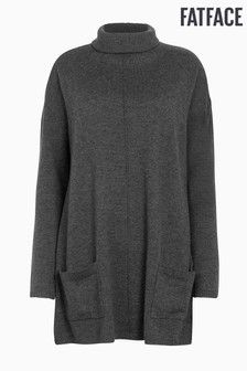 FatFace Black Suzie Swing Roll Neck Jumper