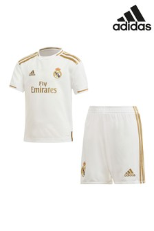 adidas White Real Madrid FC 19/20 Mini Kit