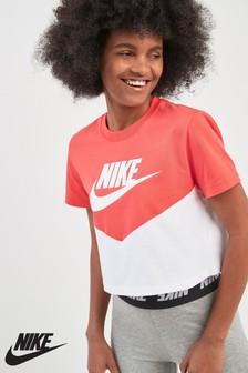 Nike Heritage Colourblock Cropped Tee