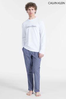 Buy Mens Nightwear Calvin Klein Pyjamas Crew Neck Crewneck