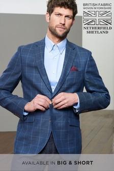 Signature British Fabric Check Slim Fit Moons Blazer