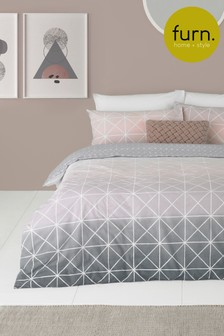 Riva Home Spectrum Ombre Geo Duvet Cover and Pillowcase Set