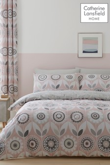Catherine Lansfield Annika Floral Duvet Cover and Pillowcase Set