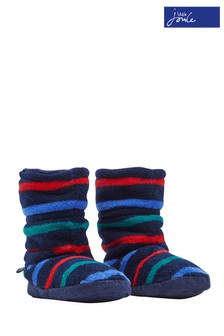 Joules Multi Stripe Fleece Lined Slipper Sock