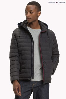 Tommy Hilfiger Blue Lathan Detachable Hood Jacket
