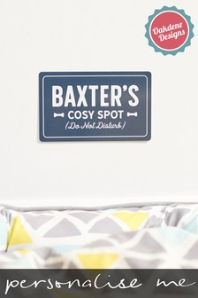 Personalised Dog Bed Sign by Oakdene