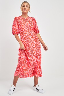 aa742326fa Animal Print Midi Dress