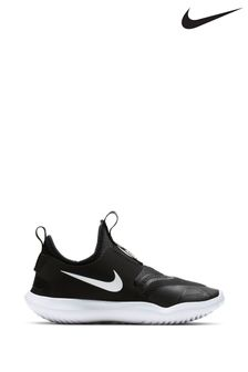 Nike Run Black/White Flex Runner Junior Trainers