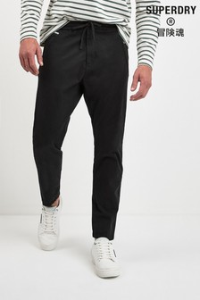 Superdry Black Taper Pants
