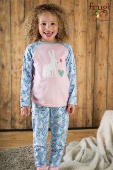 Frugi Blue Jamie Arctic Hares Pyjama