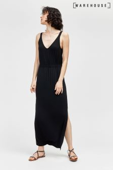 Warehouse Black Cami Maxi Dress