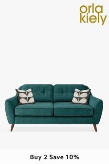 Orla Kiely Laurel Medium Sofa with Walnut Feet