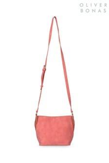 Oliver Bonas Pink Yara Weave Cross Body Bag