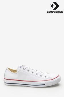 e7a286bca425 Converse White Leather Chuck Ox Trainer