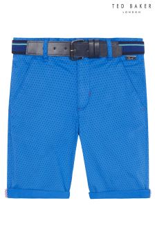 Ted Baker Blue Belted Short Chino Trouser