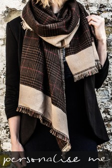 Personalised Houndstooth Check Scarf by Studio Hop