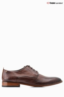 Base London® Brown Script Lace-Up Shoe