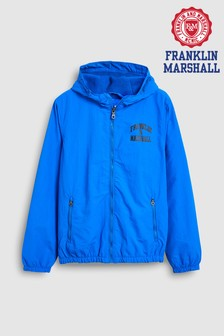 Franklin & Marshall Blue Badge Logo Windbreaker