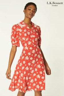L.K.Bennett Orange Roisin Dress