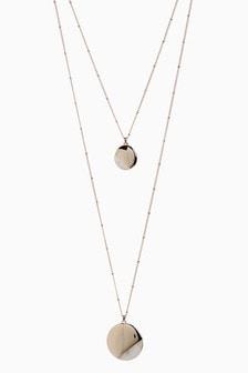 Collier à deux niveaux à détail perle