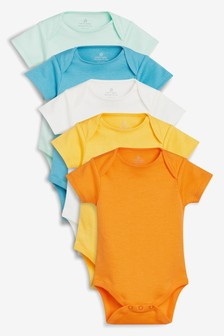 Short Sleeve Bodysuits Five Pack (0mths-2yrs)