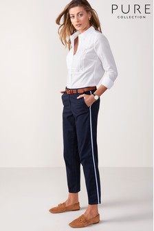 Pure Collection Side Stripe Skinny Trouser