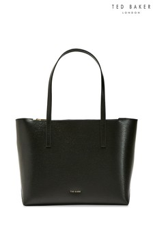 Ted Baker Black Leather Shopper Bag