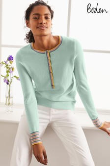 Boden Blue Marlborough Henley Jumper