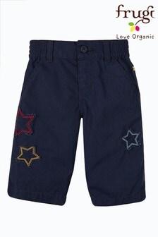 Frugi Blue Navy Stars Organic Cotton Shorts
