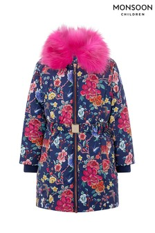 Monsoon Navy Katsuko Padded Coat