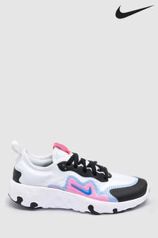 Nike White/Pink Lucent Youth Trainers