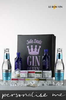 Personalised Gin Queen Or King Gin And Infusions Gift Box by Le Bon Vin