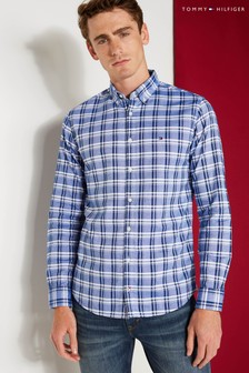 Tommy Hilfiger Blue Oxford Check Shirt